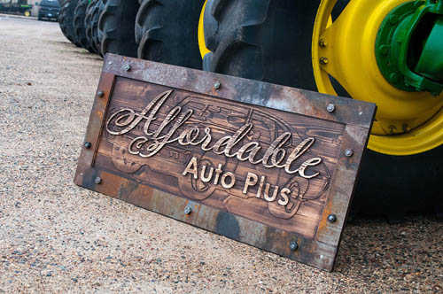 Custom Woodworks Metalworks signs | Coppersmith Customs Minnesota